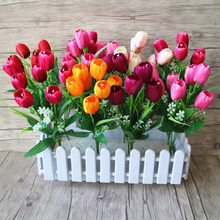 ARHC010006 HAOXUAN Factory Supply Kunstmatige <span class=keywords><strong>tulp</strong></span> voor Home Decoration-Boeket van tulpen