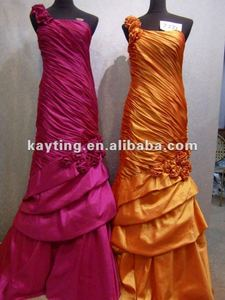 2012 Modest Mother of the Bride dresses Orange evening dress Applique dress 7271