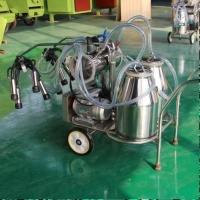 Single Double tank Piston and Vacuum Pump milking machine for cows with SS 25L bucket