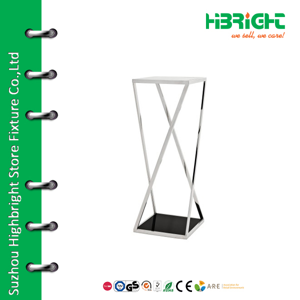 Hot sale chrome cushion display stand