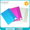 new hot selling products Aluminum housing ultra thin 850mah power bank le touch with long working time
