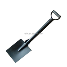Metal Fire Shovel With Wooden Handle Black Ash Coal Remove Spade Scoop