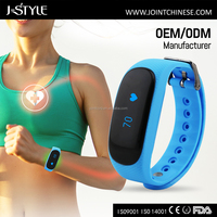 J-style Wholesale Silicone Wristband Step Calorie Tracker Heart Rate Monitor pedometer program
