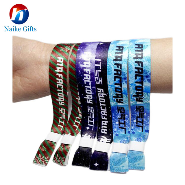 Embroidered fabric bracelet with one direction clasps custom fabric cloth  wristbands