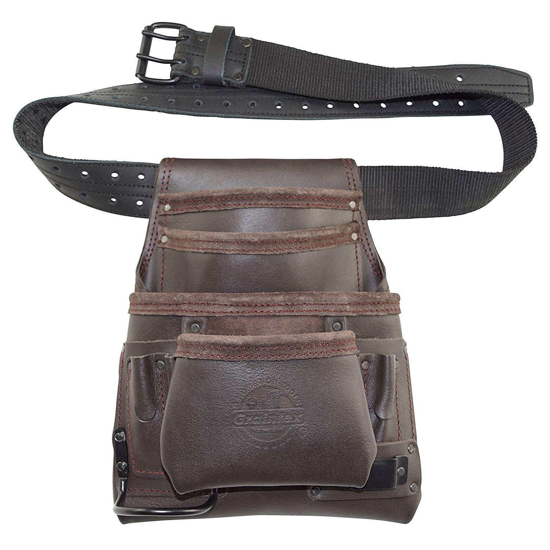 Kuny/'s 19427 Oil Leather Construction Apron 12 Pocket