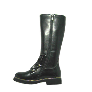 New design winter girl leather high ankle girls sex black knee boots