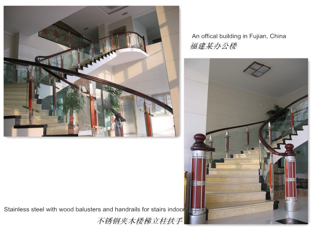 Simple Indoor Stainless Steel Cement Balcony Railing Designs