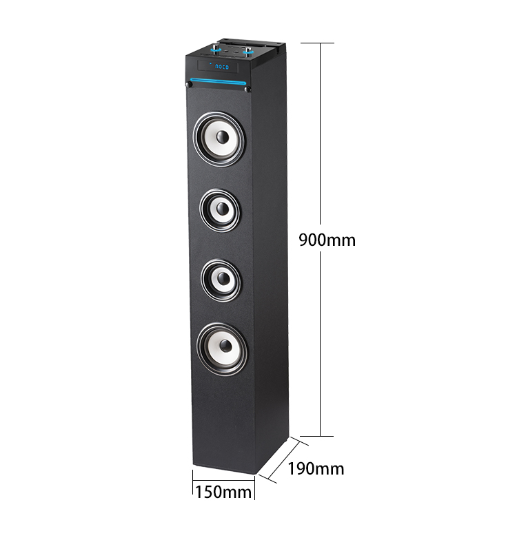 2018 Hot sell home theater dj BASS BT tower speaker with CD BOX phone docking