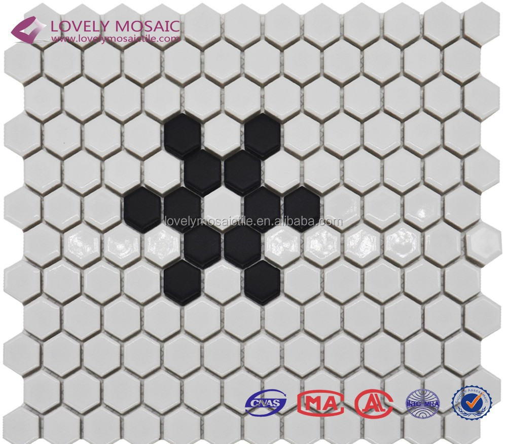 2017China Hexagonal Ceramic Mosaic Tiles for Projects/External Wall Tiles/office decoration
