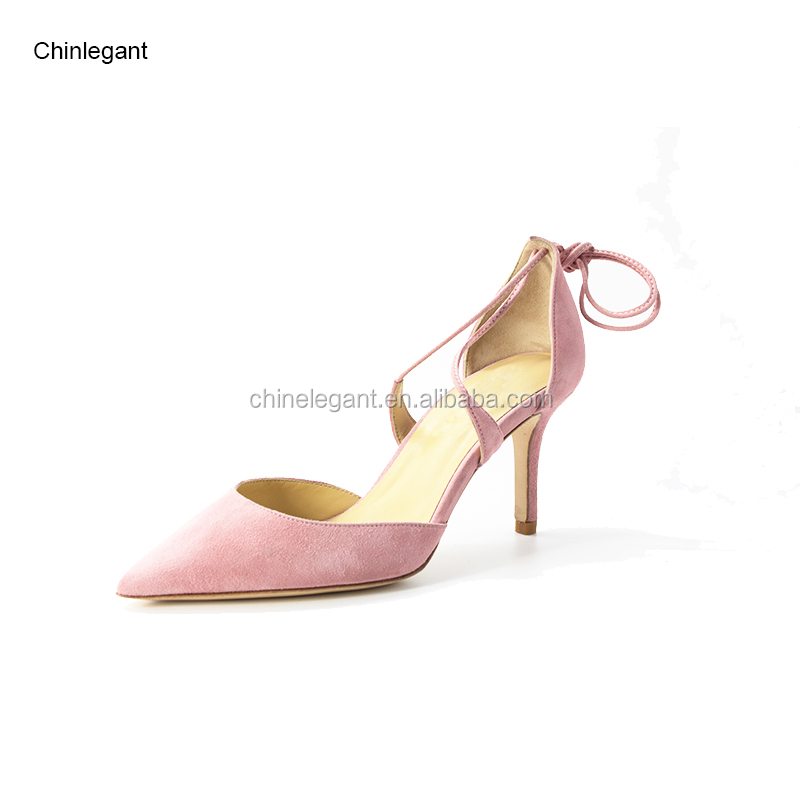 ca81c7f7c4cf2 2017 Popular Women Suede Leather Closed Pointed Ankle Strappy Stiletto High  Heels Sandals Bridal Wedding Shoes