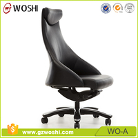 Modern art design Office Furniture Executive Swivel Office Director Chair in black Leather