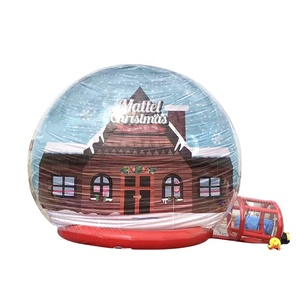 Clear Inflatable Human Size Snow Globe with Tunnel