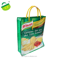 Promotional customized PP non woven bag ,glossy Laminated non woven bag with PP handle,durable recycled polyester bag