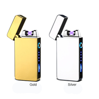New LED Battery Indicator Smoking Accessories custom Disposable Dual Arc Flameless Safe Lighters