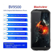 "Blackview BV9500 IP68 wasserdichte 5,7 ""18:9 FHD <span class=keywords><strong>Smartphone</strong></span> 4G <span class=keywords><strong>Android</strong></span> 8.1 4G + 64 GB 10000 mAh wireless lade NFC handy GPS"