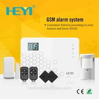 multi-language real time monitoring APP GSM smart alarm system for home