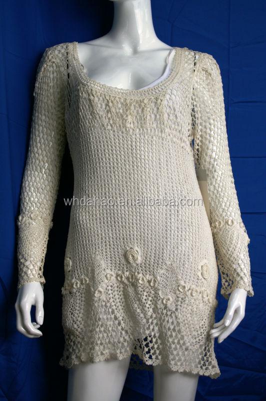Wholesale Cutout Pattern Designof Handmade Sweaters Pullover ...