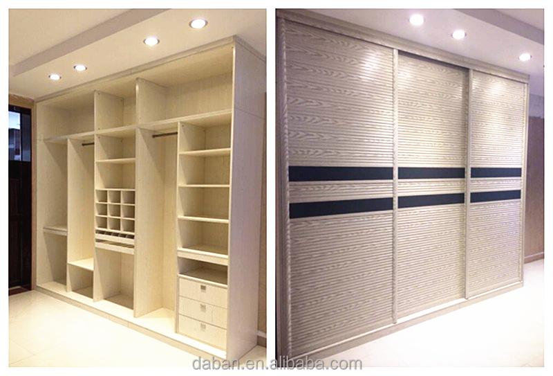 Foshan Bedroom Designer High Gloss White Plywood Wardrobe