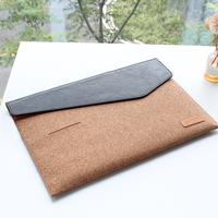 Factory Price Laptop bag 13 inch Cork airbag computer bags fashion handbags Women shoulder Messenger notebook bag with Card Slot