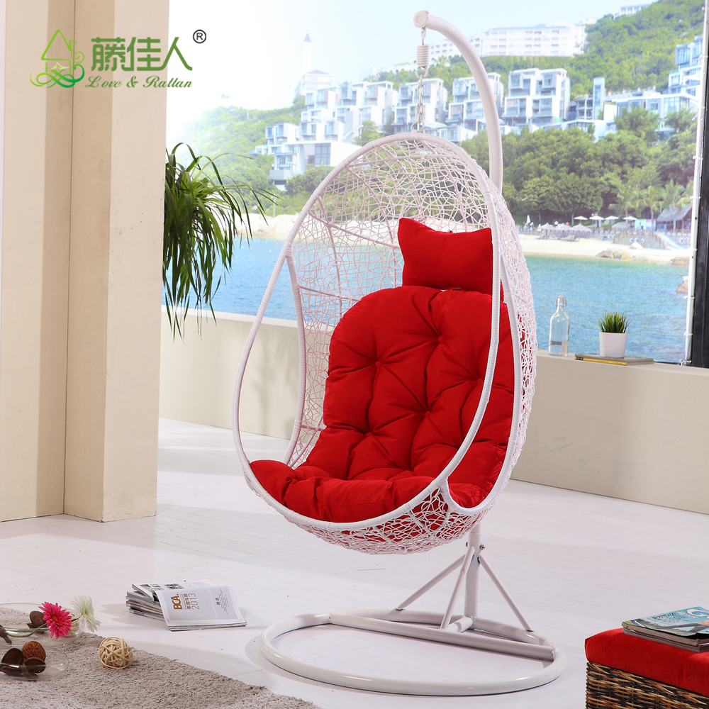 wholesale outdoor indoor bedroom 2 person egg shape wicker rattan