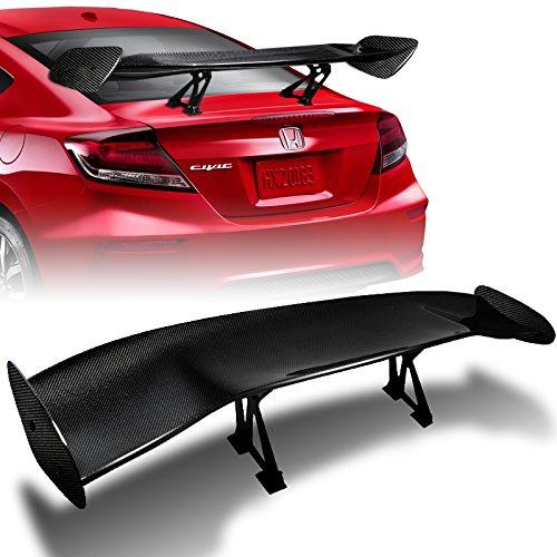 Supsuper Universal GT Wing Spoiler 110CM Lightweight Aluminum Rear Spoiler Wing Adjustable Single Deck