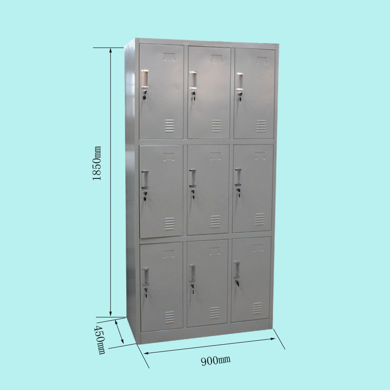 Makro Office Furniture Steel Locker Cabinet/9 Door 3 Tier Gym ...