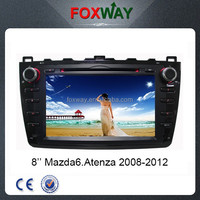 Factory wholesale 8inch 2din hd touch screen mazda 6 navigation system with car dvd player/vcd/cd/gps/bluetooth/radio/ipod/sd