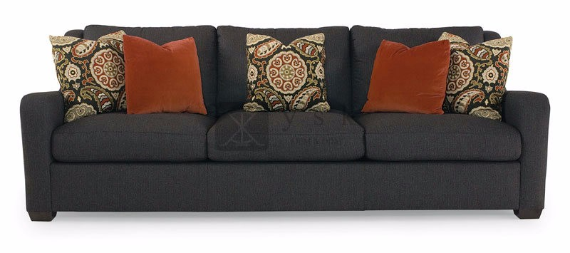 Sf 044 High Quality Parlour Fabric Three Seater Sofa With Cushions