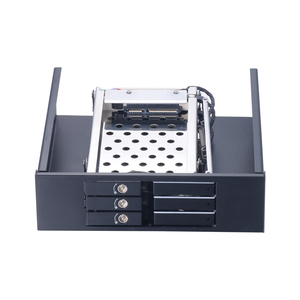 Tray less Swap Mobile Rack 5.25inch for Optical Bay 2.5'' Hard Drive - Internal SATA III HDD/SSD Backplane Frame with key lock