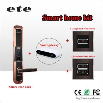 Wifi Zigbee Double Sided Door Handle Lock Electric Remote Control ...