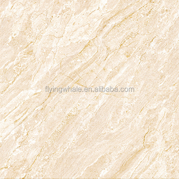 Beige Marble Texture Polished Glazed Floor Tiles Made In Zibo China