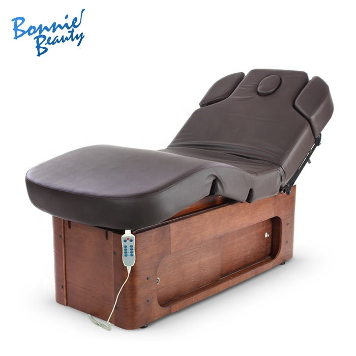 Five stars BonnieBeauty electric massage bed in wood