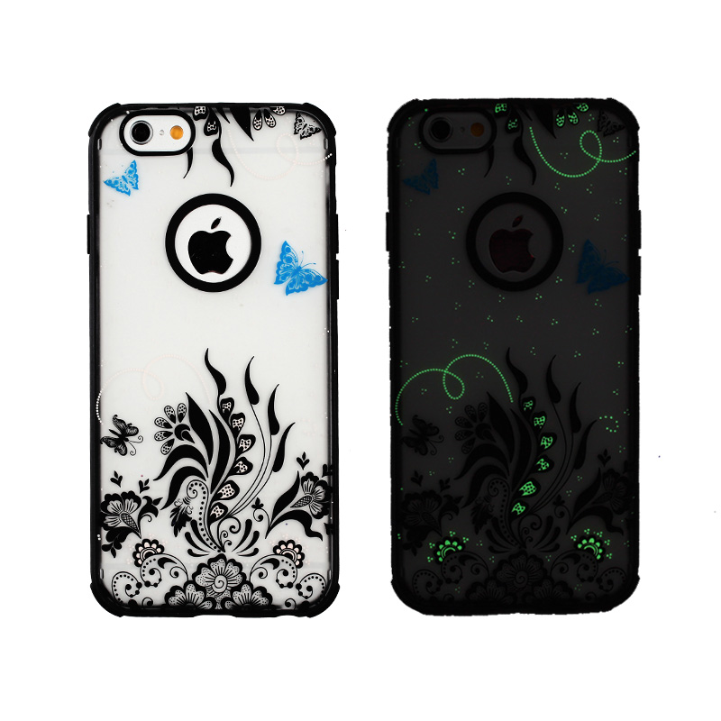 Cute New Glow In The Dark Hard Edge Back Soft Skin Case Cover for Apple <strong>iphone</strong> <strong>4G</strong> 4S