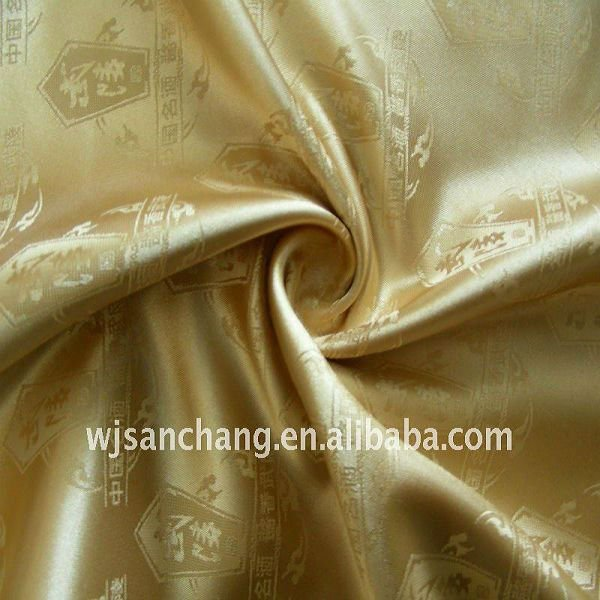 2016 Jaquard Poly Satin for package