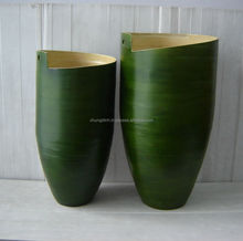 2017 Viet nam Newest Nice Spiral Spun bamboo Vase Set of 2 for Home and Furniture Decoration