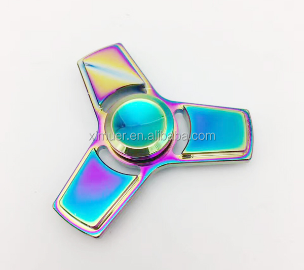 2017 Wholesale hand fidget toy for <strong>kids</strong> and adult alloy finger spinner metal spinner