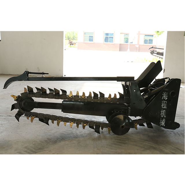 Modern design ce approved pto driven cable tractor digging trencher machine