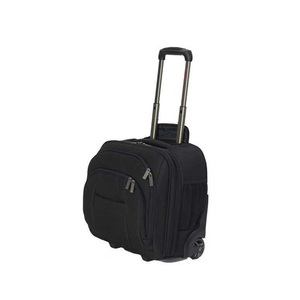 black wheeled laptop bag for men