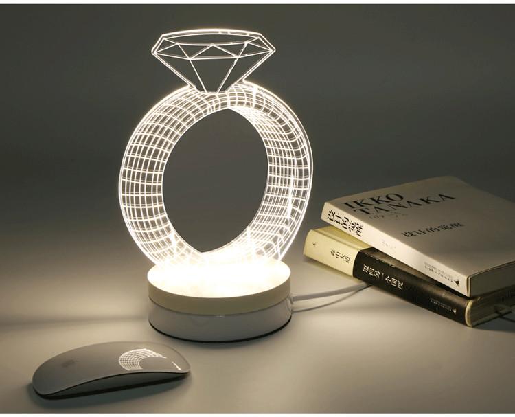 3D creativo led lámpara de escritorio, fancy chrismas luz llevada ...
