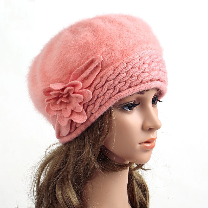 148ef52663e Buy 2015 New arrived winter hats for women warm cap one flower Rabbit hair  hat berets fashion All-match Stewardess wholesale in Cheap Price on  m.alibaba.com