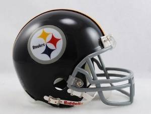 Pittsburgh Steelers (1963-76) Miniature Replica NFL Throwback Helmet w/2-Bar Mask by Riddell