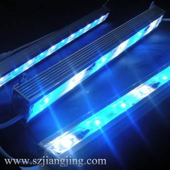Aluminum+PC material shell 90cm 27w IP 68 waterproof dimmable ramp led aquariums light china