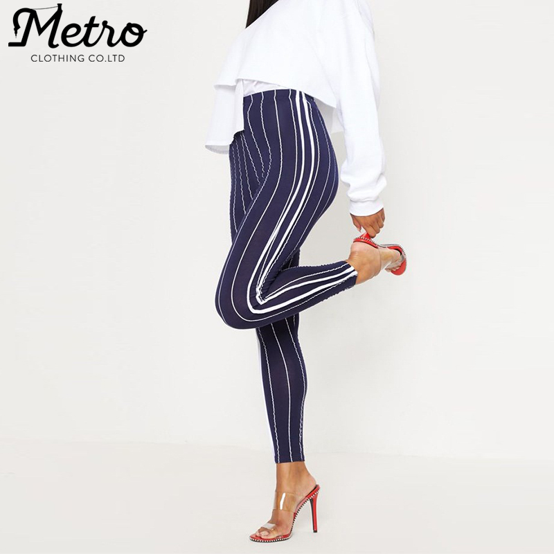 Mujer al por mayor medias sport stripe fitness yoga leggings Pantalones