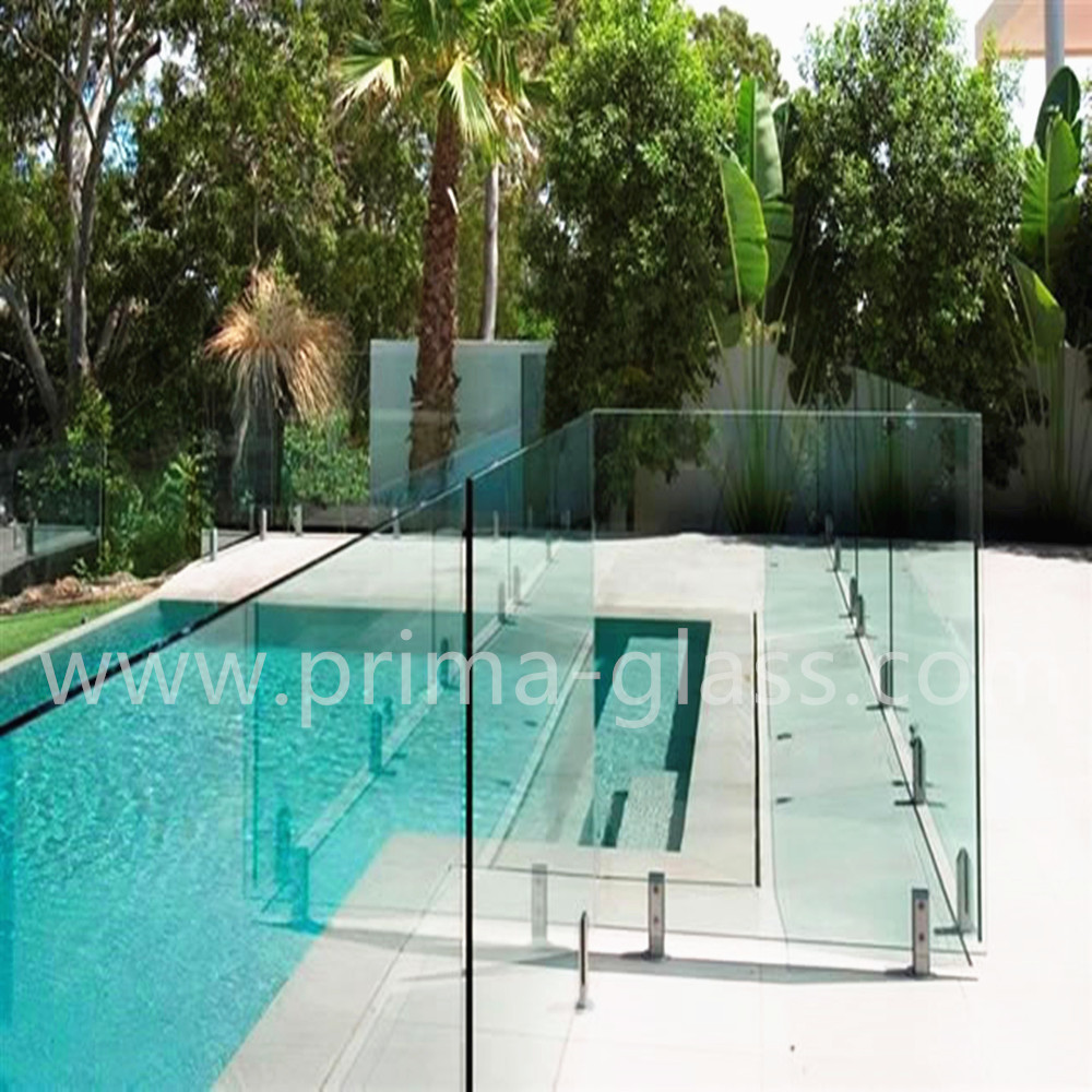 Prima Tempered Glass Railing for swimming pool