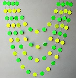 Buy Neon Garland Birthday Party Decor Neon Green Yellow Garland