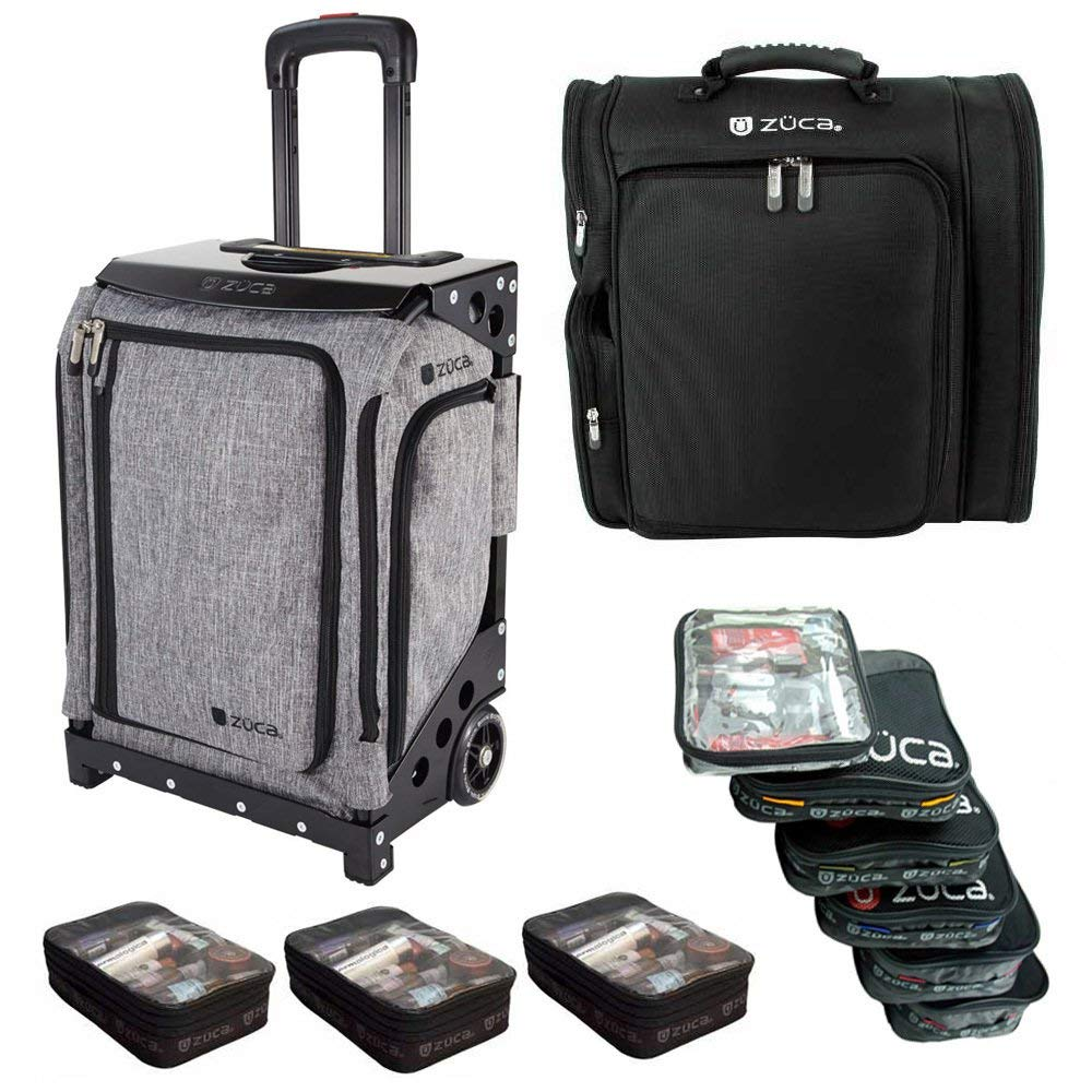 Get Quotations · ZUCA Artist Navigator Flyer Bag (Black Frame) 5 Stacking  Pouches + Artist Backpack + a30e2f1b89f61