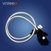 VCEEGO newest stand up usb cable for iphone IOS and for Samsung android charging usb cable making machine