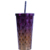 Food grade 304 stainless steel vacuum cup with straw