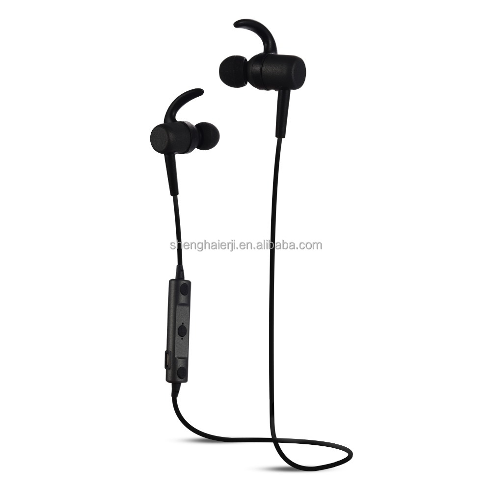 outdoor sport running rohs bluetooth headset wireless stereo sweatproof handfree sport stereo earphone with magnet