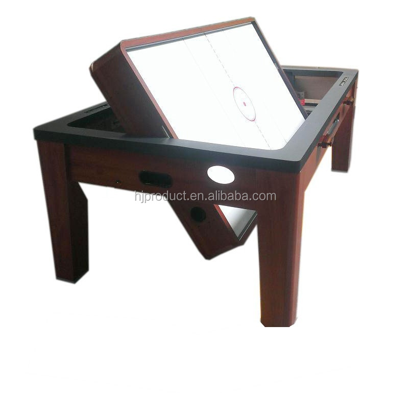 Hot sale rotating 3 in 1 multi game table dining top air hockey pool table with full accessories